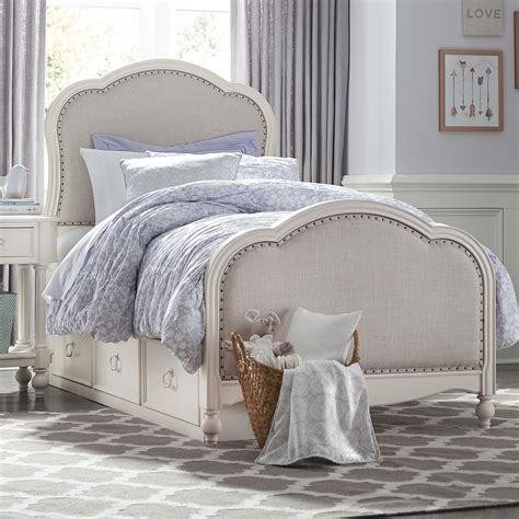 twin bed upholstered headboard legacy classic kids harmony victoria panel twin bed with