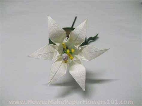How To Make Paper Lilies Step By Step - how to make an origami step by step how to make