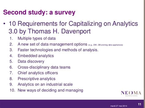 Davenport Mba Requirements by Quot Big Data Quot And Business Analytics Key Requirements For