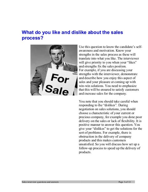 sales manager questions and answers