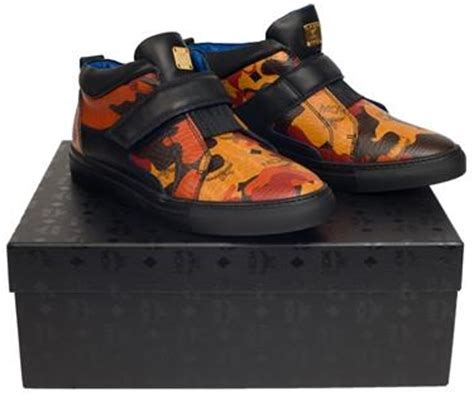 mcm kid shoes mcm visetos low top sneakers camo pureatlanta
