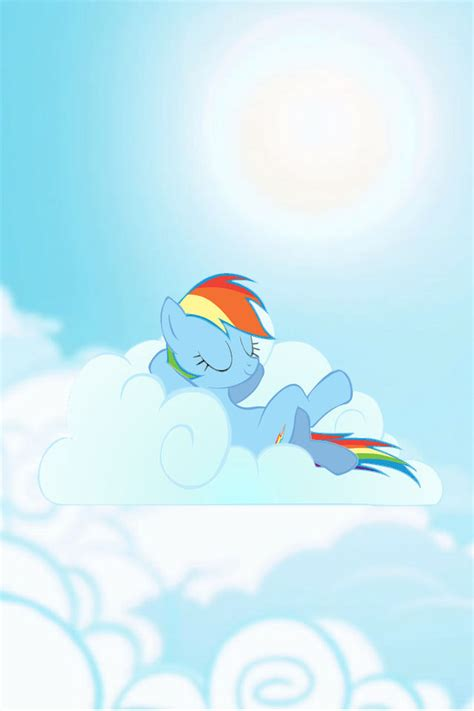 Rainbow Dash Cloud Iphone All Hp 293208 cloud iphone wallpaper rainbow dash relaxing safe sky derpibooru my