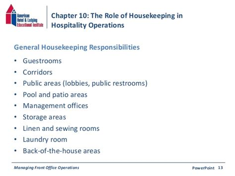 Patio Rooms Cost Chapter 10 The Role Of Housekeeping In Hospitality Operations