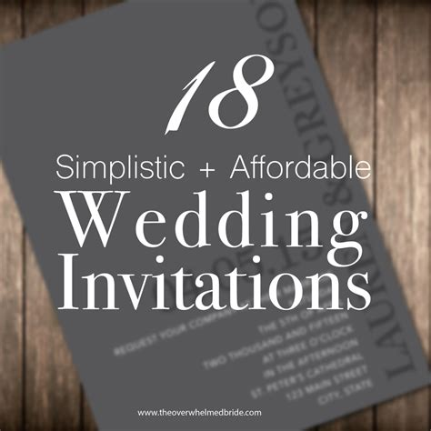 most affordable wedding invitations sunday s most loved simplistic affordable wedding