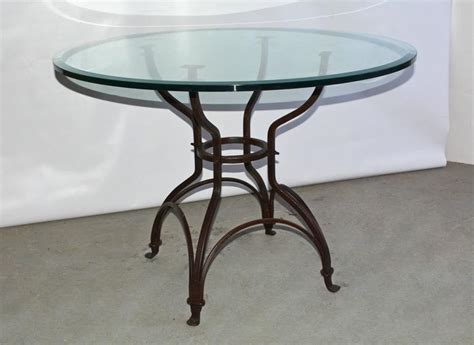 Garden Metal Base Glass Top Dining Table For Sale At 1stdibs Garden Metal Base Glass Top Dining Table For Sale At 1stdibs