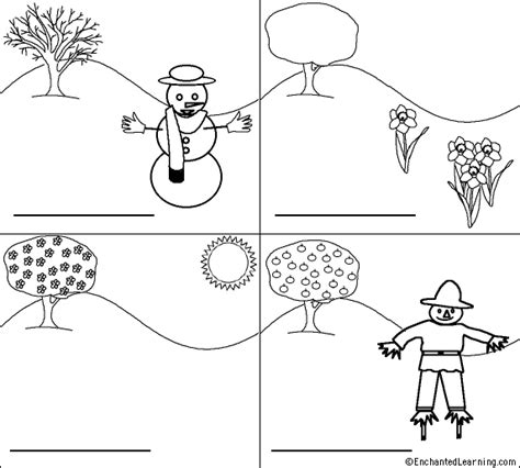 seasons coloring pages preschool seasons for joseph teach pinterest snowman english