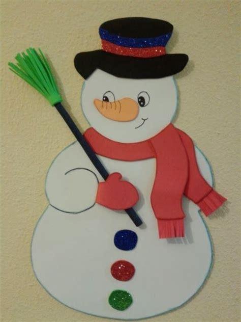 Como Hacer Un Snowman De Fomi | mu 241 eco de nieve en goma eva mis trabajos de goma eva