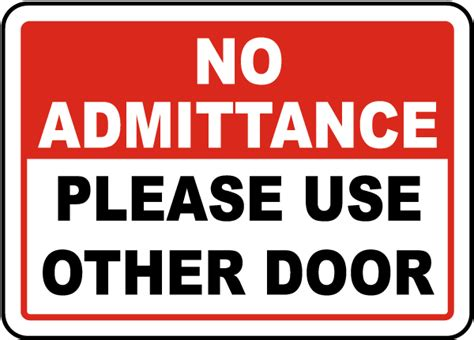 Use Other Door Sign by Use Other Door Sign G1902 By Safetysign