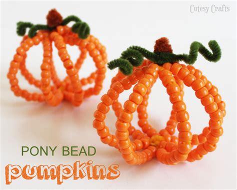 kid crafts for pony bead pumpkins kid craft cutesy crafts