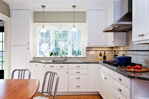 bay window kitchen sink traditional kitchen