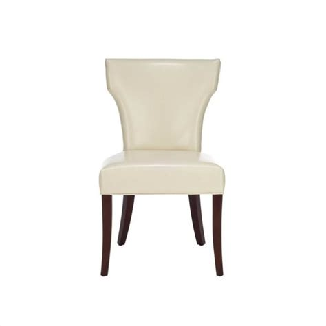 Safavieh Leather Dining Chairs safavieh matty bicast leather dining chair in white set of 2 mcr4513a set2
