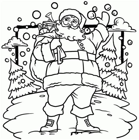 coloring pages of father christmas christmas coloring page santa coloring home
