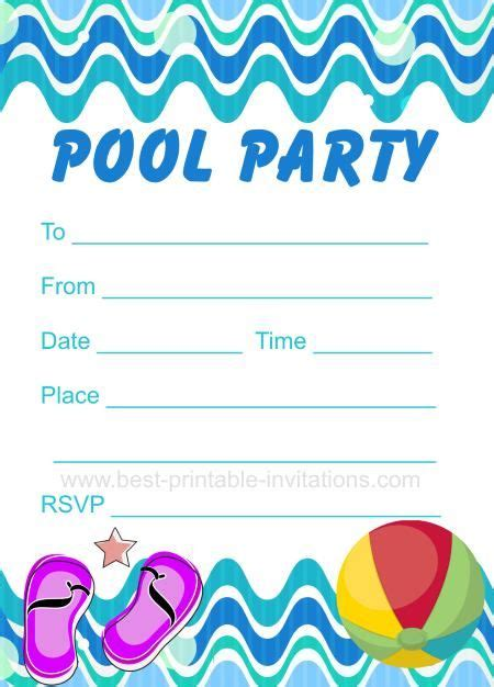 pool invitations free templates pool invitation free printable invites from