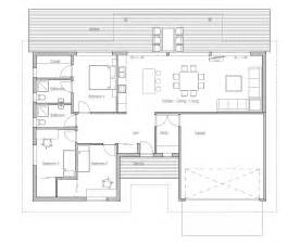 Small House Floor Plans With Garage by Small House Plan With Double Garage Three Bedrooms House