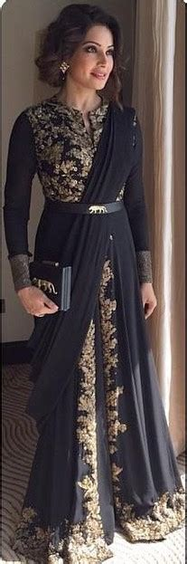 Indian Black Dress sleeves arabic evening gowns 2016 gold appliques