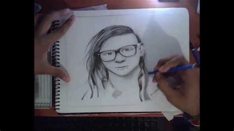 imagenes de skrillex para dibujar a lapiz speeddraw 1 skrillex by soureckarts youtube