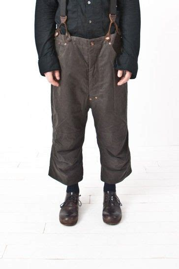 Cropped Suspender waxed cotton cropped suspender pant re porter misc