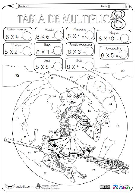 imagenes para colorear tablas de multiplicar tablas de multiplicar fichas para colorear y jugar aula