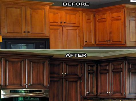 refinishing oak kitchen cabinets before and after kitchen cabinet refacing before and after for the home