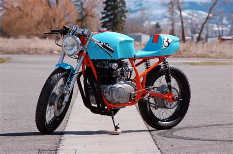 gulf racing motorcycle 1975 honda cb550k quot le mans special quot pipeburn com