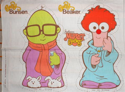 muppet babies vintage 1985 jim henson muppet babies pillow panel fabric baby