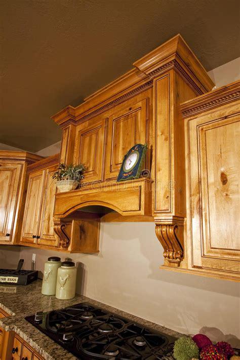 modern kitchen cabinets range hood stock image image