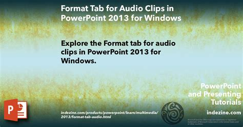 format audio in powerpoint animating slide objects while media is playing in