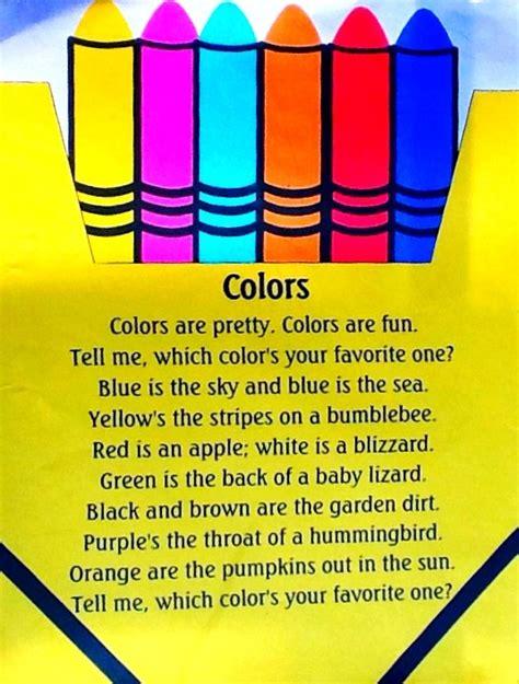 poems about colors colors poem homeschool