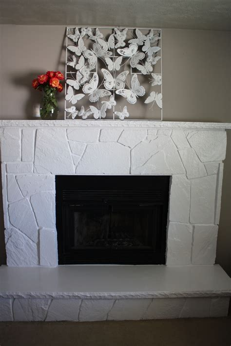 tattered butterfly how to paint a flagstone fireplace