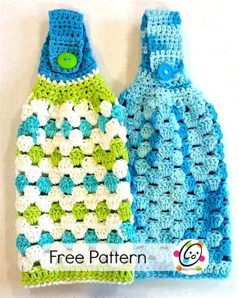 pattern crochet dish towel hanging towel free crochet pattern