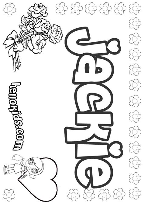 coloring book pages names jackie coloring pages hellokids