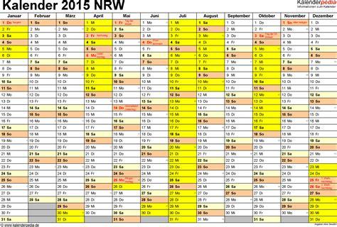 Nrw Kalender 2015 Ferien Nordrhein Westfalen Nrw 2015 220 Bersicht Der