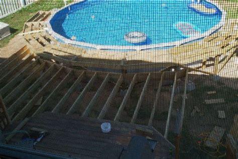 roundpooldeckplans framing   splash deck