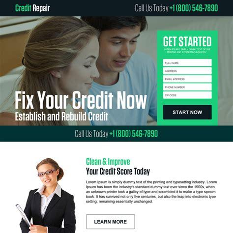 Credit Repair Landing Page Template credit repair landing page design template to boost your