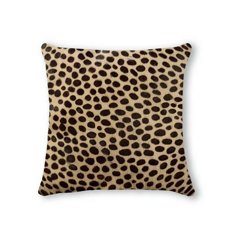 brown patterned pillows torino cowhide pillow patterned 18 quot square brown