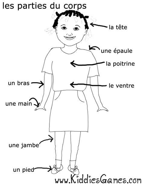 coloring pages with french words free coloring pages of body parts in spanish