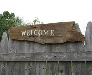 Barn Wood Home Decor Barn Board Welcome Sign Rustic Home Decor Reclaimed