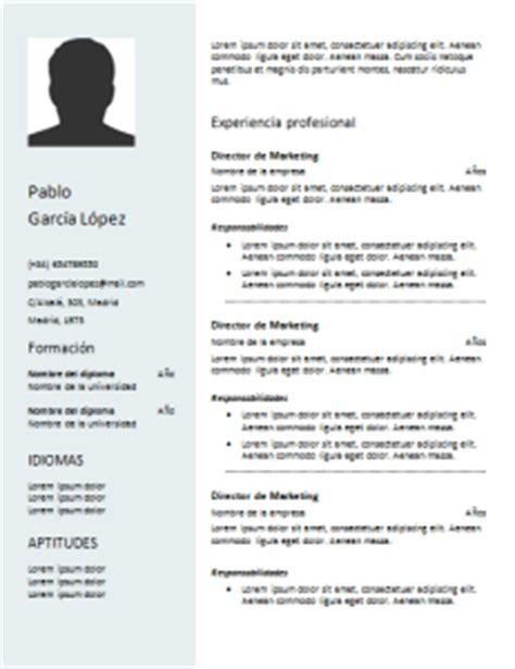 Modelo De Curriculum Vitae Funcional Para Descargar Modelos De Curriculum Vitae 50 Dise 241 Os Para Rellenar Gratis