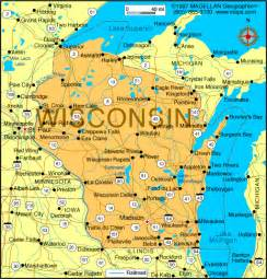 wisconsin united states map wisconsin map