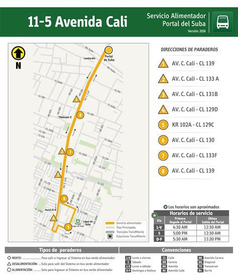 horario alimentadores portal suba 11 5 avenida cali sistema de transporte p 250 blico de