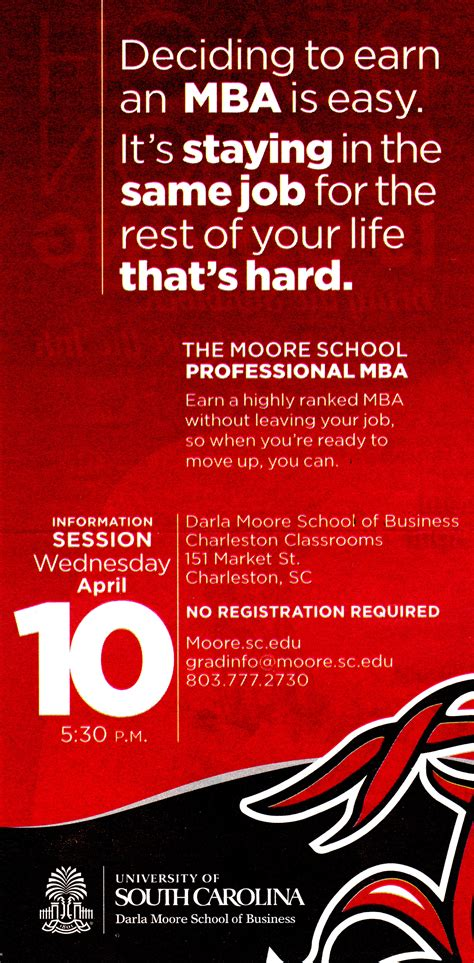 Earn Mba by Of South Carolina Mastering The Of Living