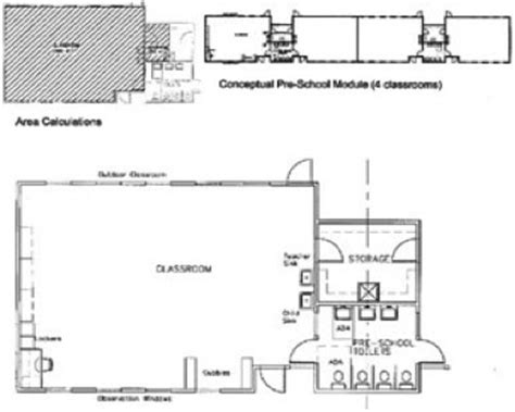 What Is Included In Architectural Plans child care head start amp children s learning facility