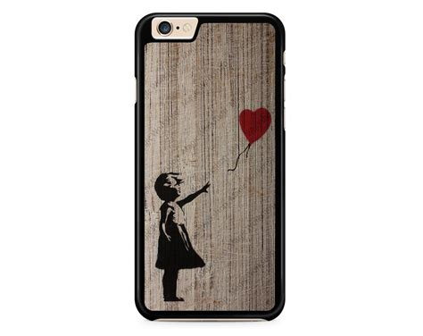 Iphone 6 6s Banksy Balloon Custom Casing Cover with balloon on wood texture banksy for iphone 4 4s 5 5s 5c 6 6 plus 6s 6s plus
