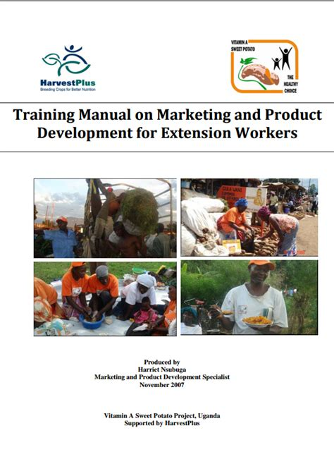 Courses On Marketing by Manual On Marketing And Product Development For