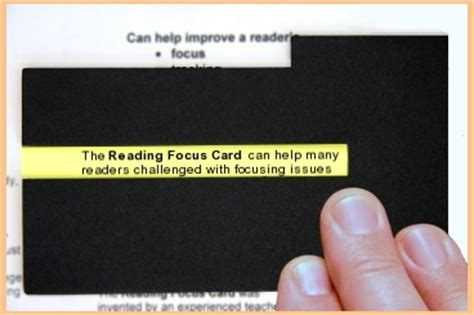 reading focus card template reading focus card dyslexia matan