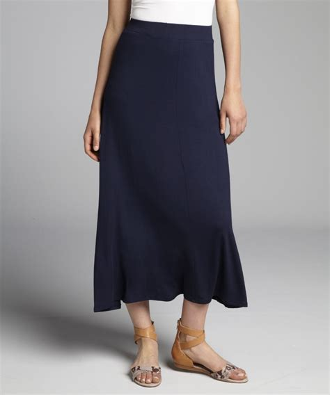 loveappella women s navy jersey knit maxi skirt hcloth