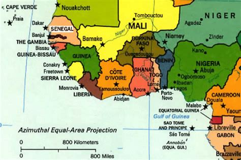 map of west africa preparing for dakar senegal katinafrica