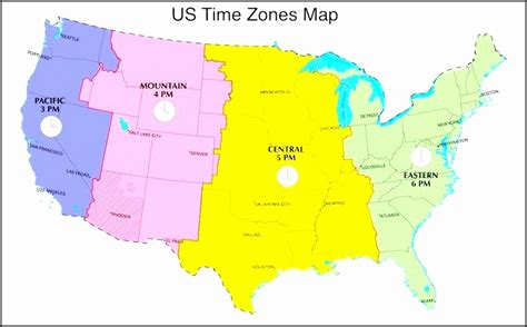 printable us map of time zones us timezone map printable jsnbg best of free map us time
