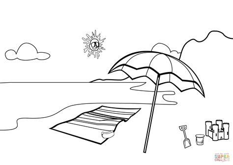 free printable beach scenes kids coloring europe