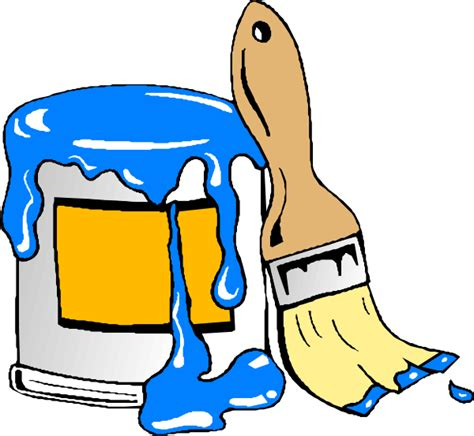 House Painting Colors Paint Can Brush Svg Clip Arts Download Download Clip Art